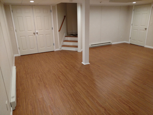 Basement Flooring After in Amherst