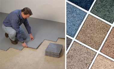 Basement subfloor matting and basement carpeting in New York