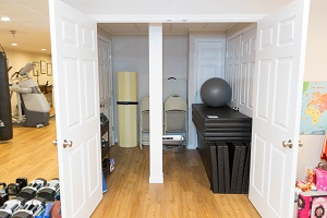 TBF finished basement with home gym in Buffalo